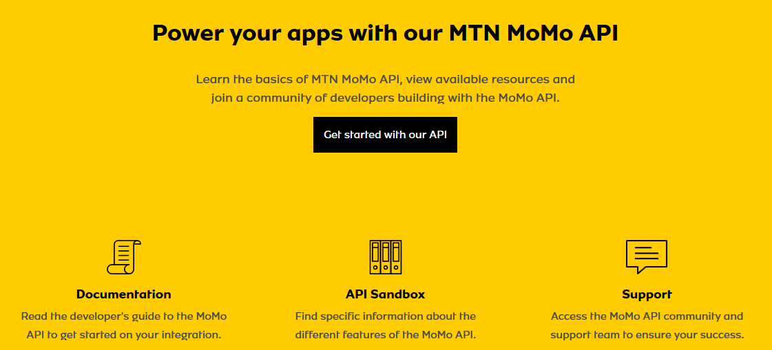 MTN Mobile Money API Now Available to Developers Easily.