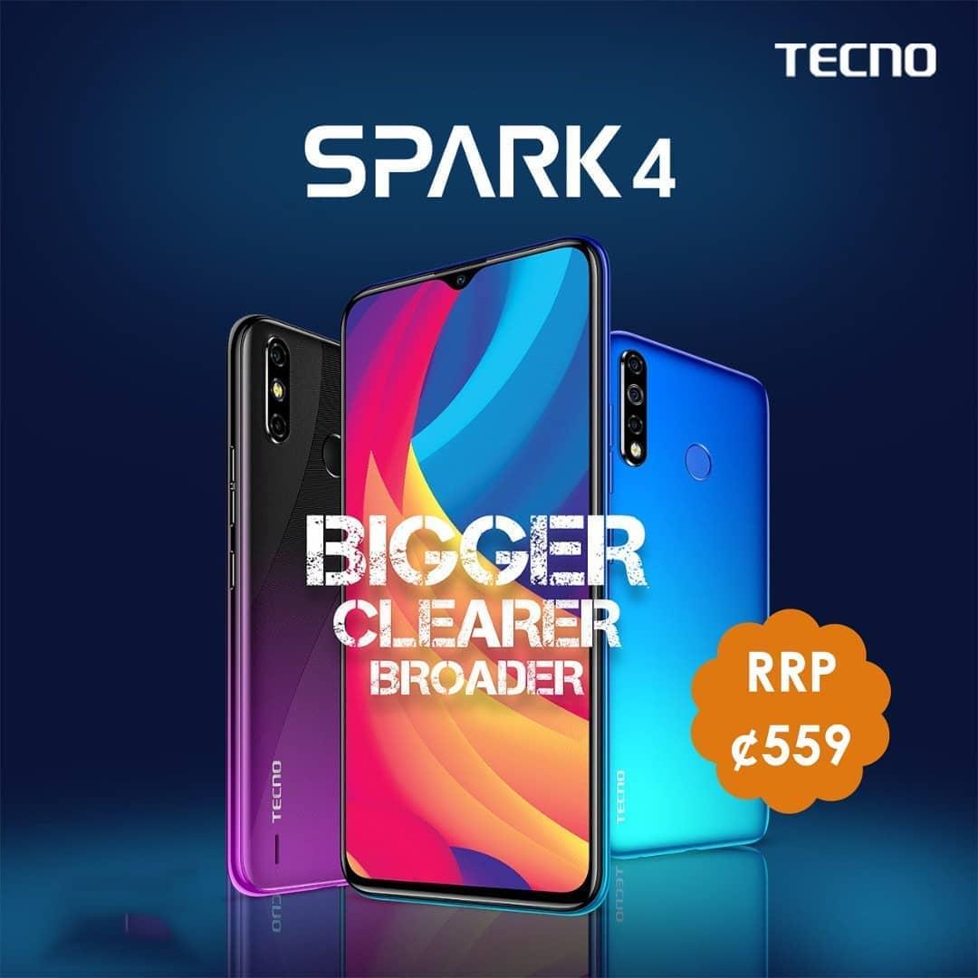 TECNO SPARK 4 SPECS, PRICES IN GHANA