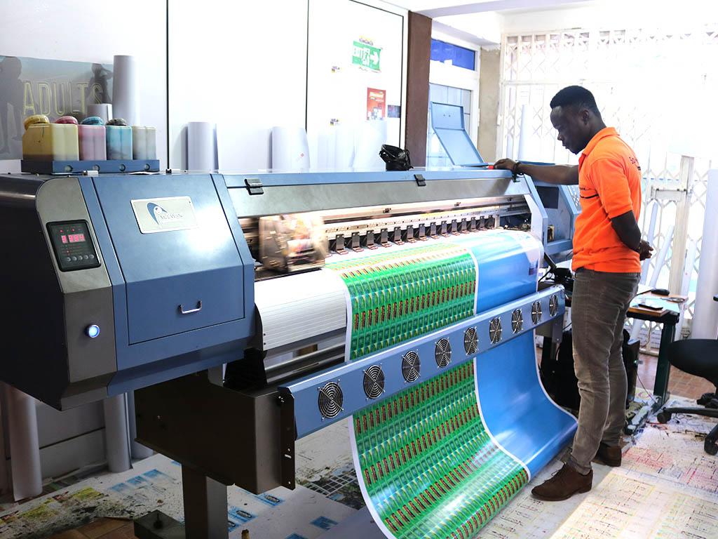 Printing Press in Ghana.